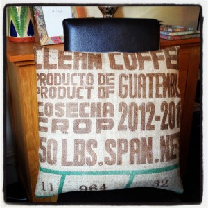 Our first coffee sack transformation
