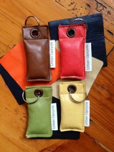 Upcycled Leather Key Rings