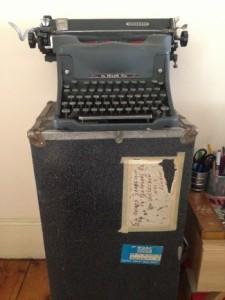vintage typewriter vintage trunk