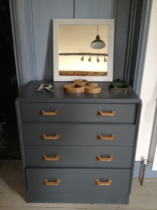 upcycled painted chest of drawers
